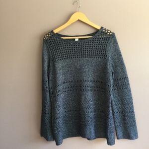 Chicos Women's Blue Long Sleeve Sweater Sz 12